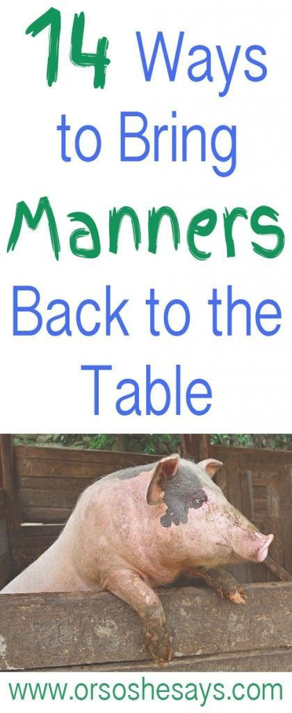 14 Ways to Teach Table Manners to Kids!!