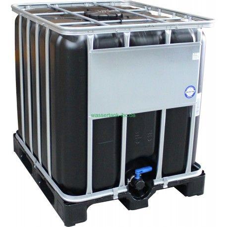 IBC 1000L NEU, Schwarz UV-Schutz, auf Kunststoffpalette Tank Container Wassertank  #ibc #tote #tonne #wassertank