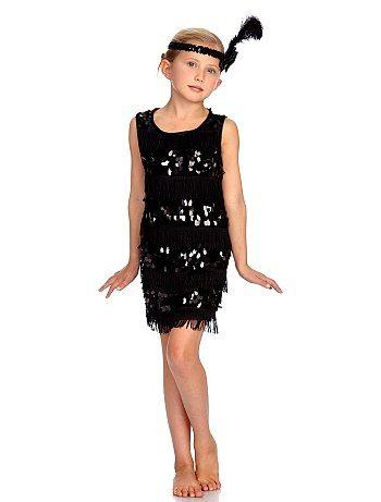Charleston-verkleedkostuum voor meisjes                                                                 zwart Kinderen  - Kiabi