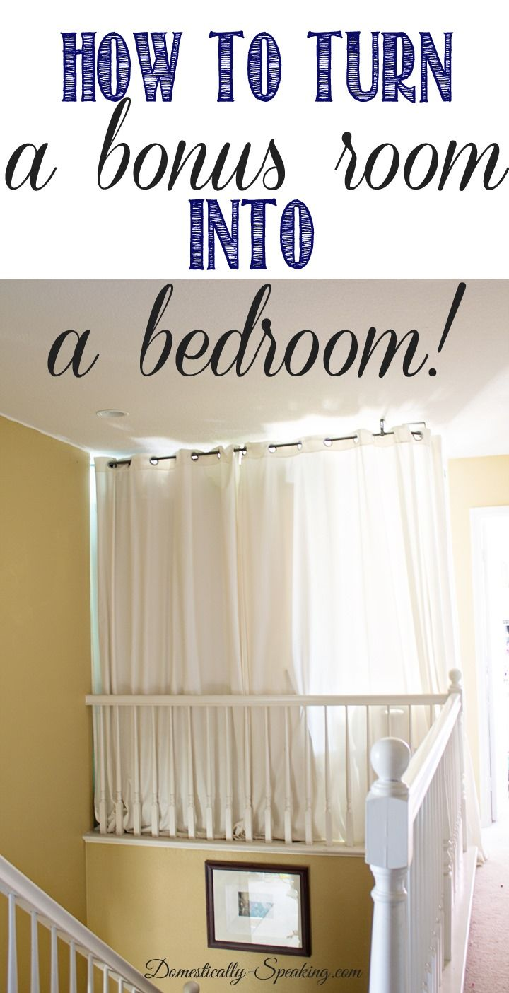How to Turn a Bonus Room into a Bedroom from @Domestically Speaking