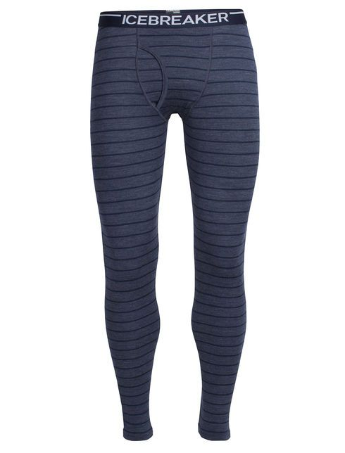 Oasis Leggings with Fly | The men's Oasis Leggings with fly make cool weather sports better, day after day. Crafted from ultra soft, breathable 200gm merino jersey, they provide enough warmth under a pant for really cold days in winter sports, but breathe well enough for morning runs in the fall or hiking high in the mountains. Flatlock seams and a brushed waistband eliminate chaffing, and because merino resists odor naturally, they are ideal for multi-day adventures.