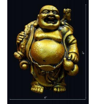 Golden Launghing Buddhhaa  @ Rs 600/- http://www.krafthub.com/decoratives/statues-showpiece/golden-launghing-buddhhaa.html