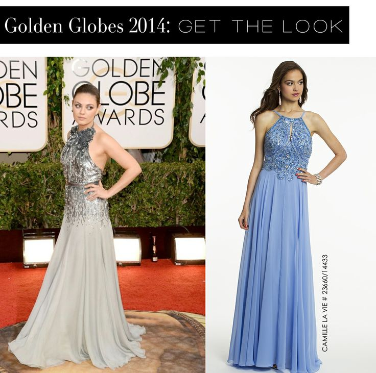 Mila Kunis at the Golden Globes 2014 and the Camille La Vie dress version for lessMila Kunis, Globes 2014, Red Carpets, La Vie, Golden Globes, Camille The, Dresses Version, Halter Dresses, Vie Dresses