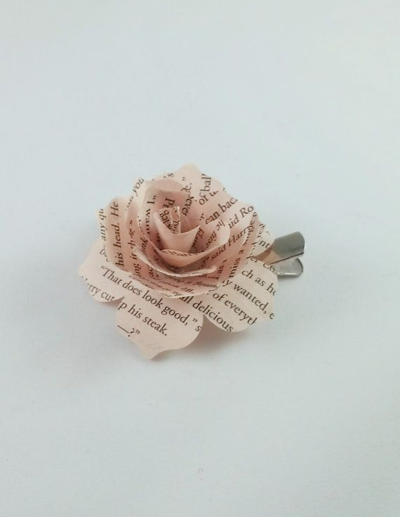 This Listing is for ONE Paper Book Hair Clip. I can do Bulk discount orders if needed with a custom order. Flower is approximately 2 inches with an alligator hair clip. Can do many different books. If a book you would like is not listed, please message me to create a custom order. *****NOTE*****  These ARE paper and WILL fall apart when wet or catch fire when too close to an open flame.  Color may vary due to differences in computer screens.