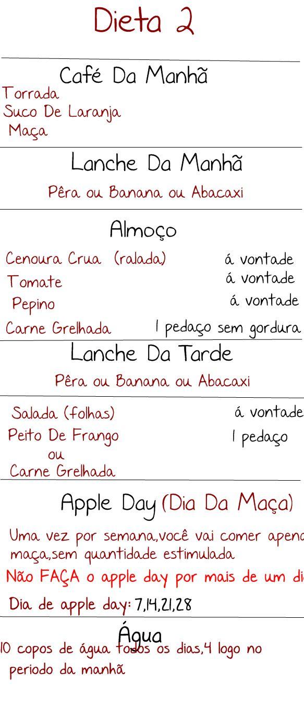 Cardápio - Dieta