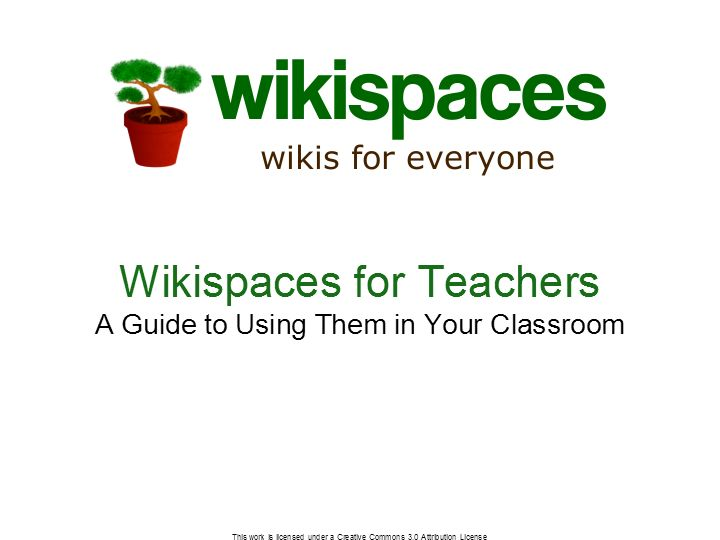 WIKISPACES CLASSROOM - Guide for Teachers PDF