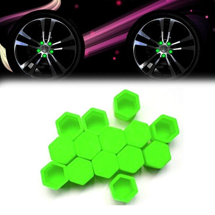 Стайлинга автомобилей 20 шт. Силикагель Зеленый Колесные Гайки Крышки Защитные Крышки Болт Ступицы Винта Протектор 17 #19 #21 #