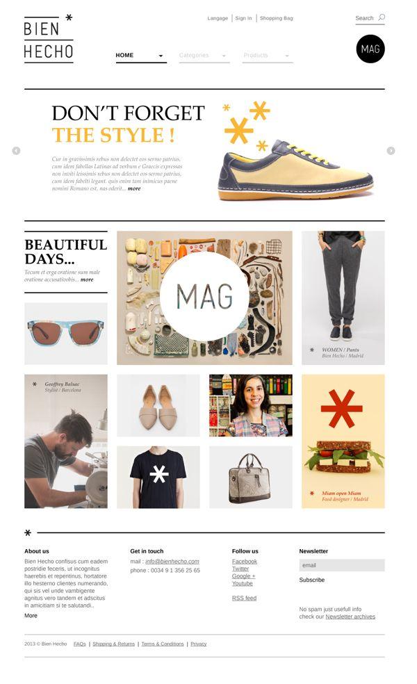 Bien Hecho website by olivier rensonnet, via Behance