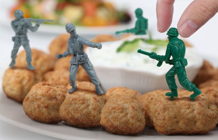 Food Fighters - Plastic Army Men Party Picks, I love these! I'm loving this site too, lots of cool stuff