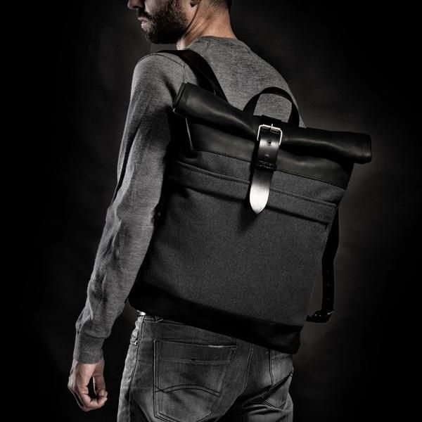 1970's Backpack (Grey) #backpack #bag #handcrafted #handmade #hipster #crossroad #style #fashion #unique #limited #accessory #overcoat #wool #army