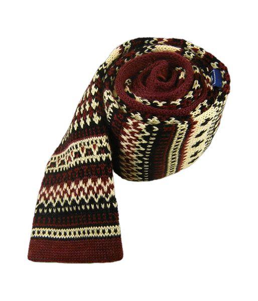 Knit Navajo Ties - Red | Ties, Bow Ties, and Pocket Squares | The Tie Bar