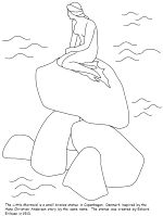 Little Mermaid Statue   Mermaids Coloring Pages