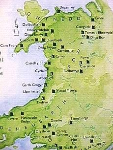 Map of Welsh castles. The castles of Wales were not only built by the English as part of their conquest and control of the local population, many were built by the Welsh Princes themselves. Internal feuding between them led to weakness and made conquest that much easier. How many other places in the old British Empire fell for the exact same reason ? rjp
