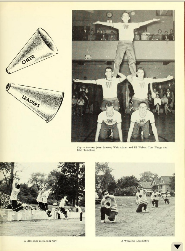 In 1960, a lot of cheerleaders were men