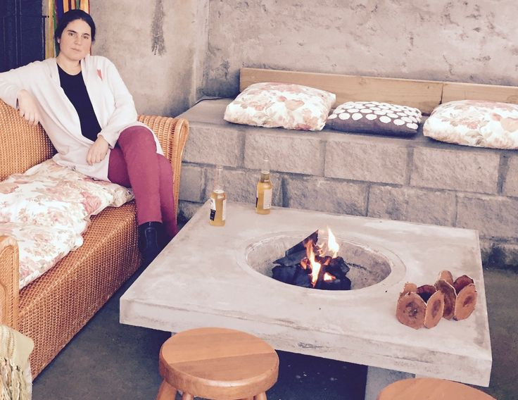 Mesa Fogón! práctica, ideal para disfrutar tu terraza en invierno!!!