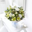 Winter snowflake hand-tied bouquet buy online for Christmas