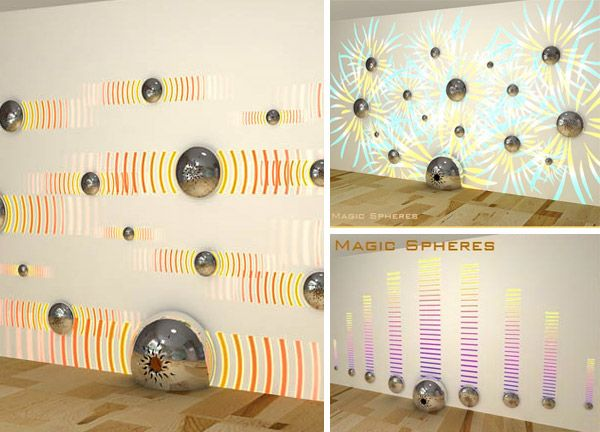 Magic spheres wall speakers by Morteza Faghili
