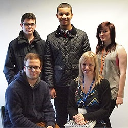 Media students at Central Sussex College embark on an exciting new project with Claire Jordan (front right)