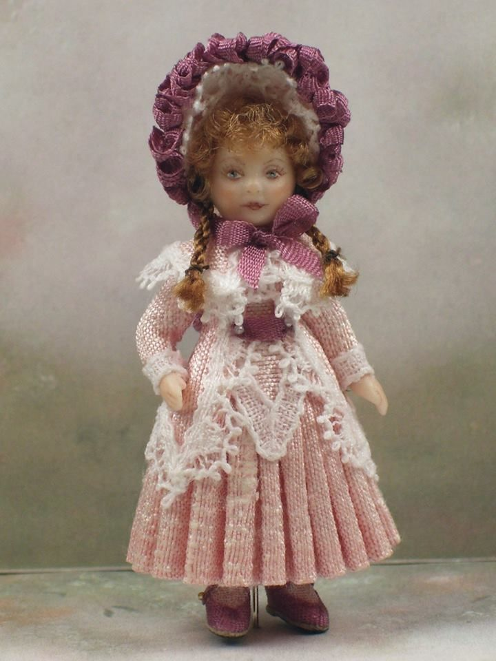 Rose: 1:12 inch scale doll by the wonderfully talented Terri Davis