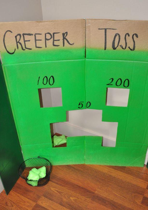 Puntos con bolita de Minecraft