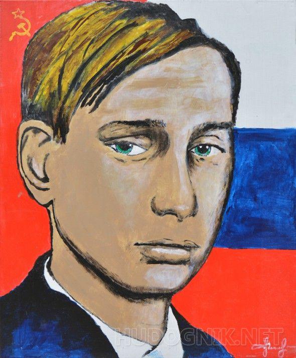 Молодость жива Young Russian guy facing the future