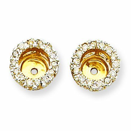 14K Diamond Earring Jacket RedBoxJewels.com. $641.95