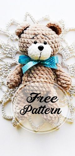 The Bedbugbear | Amigurumi pattern, Bear, Crochet projects | 500x240