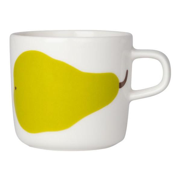 Marimekko Päärynä coffee cup 2 dl, green ($21) ❤ liked on Polyvore