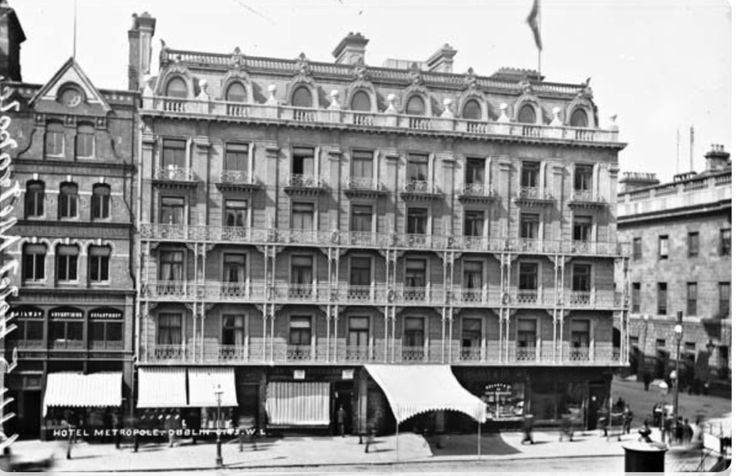 Metropole Hotel before the 1916 Rising - Penneys stands on this O'Connell St site today