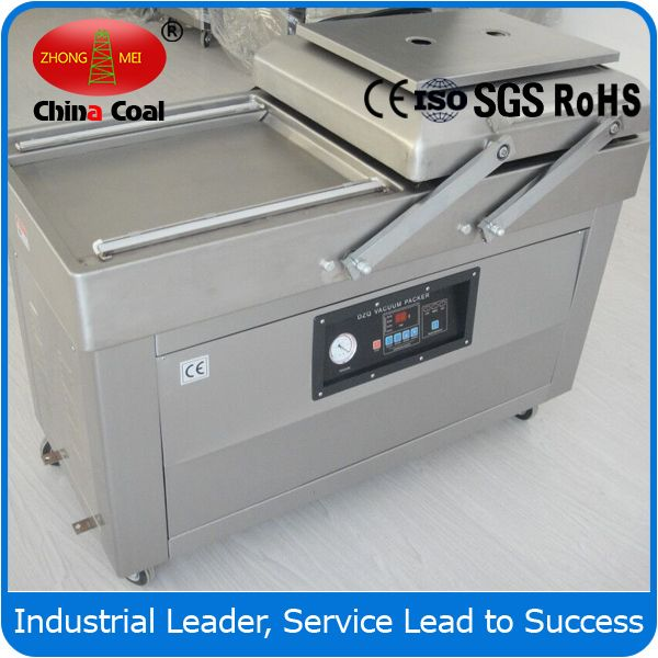 chinacoal03  DZ(Q)500-2SB double chamber food vacuum packaging machine DZ vacuum packaging machine,vacuum packaging machine, packaging machines,   dz500 double chamber food vacuum packaging machine    Introduction   : Vacuum Chamber machines or Vacuum packaging machines are used to evacuate the air around perishable goods such as food products like cheese and meat whose extension of shelf life is desired. It remove the air from the package at the same time sealing it,