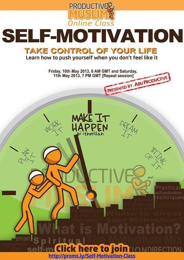Click here to join Self-Motivation Online Class with Abu Productive   Productive Muslim