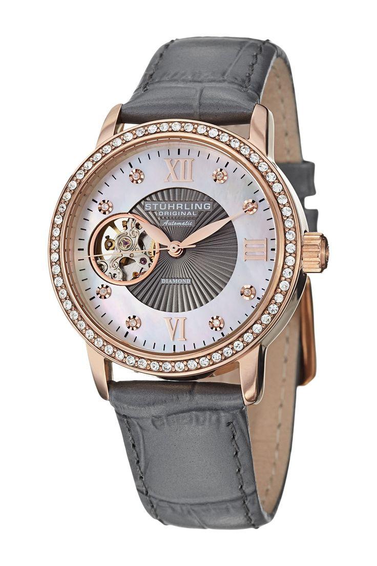 Stuhrling | Women's Memoire Diamond Automatic Watch | Nordstrom Rack