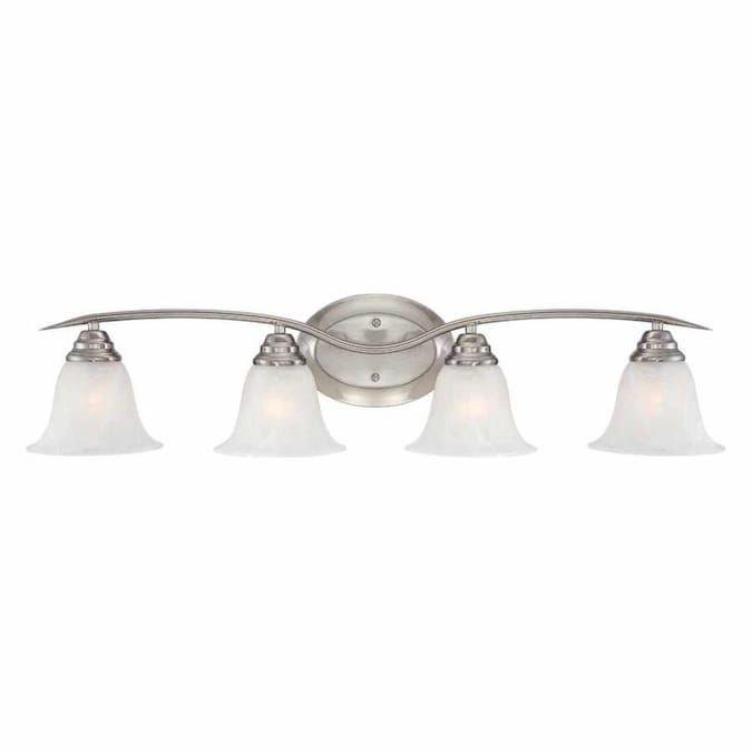 Volume Lighting Trinidad 4 Light Nickel Transitional Vanity Light Lowes Com In 2021 Vanity Lighting Volume Lighting Bathroom Vanity Lighting