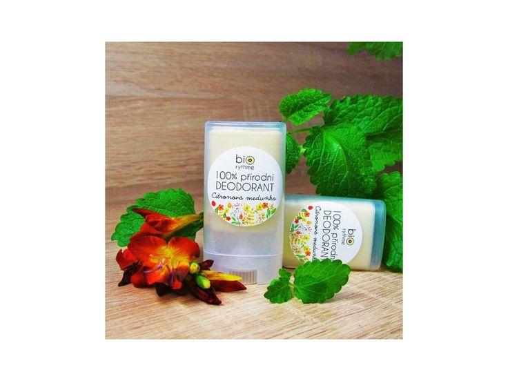Přírodní deodorant od Biorythme s vůní citronové meduňky. Deodoranty fungují mnoho hodin a neobsahují soli hliníku.
