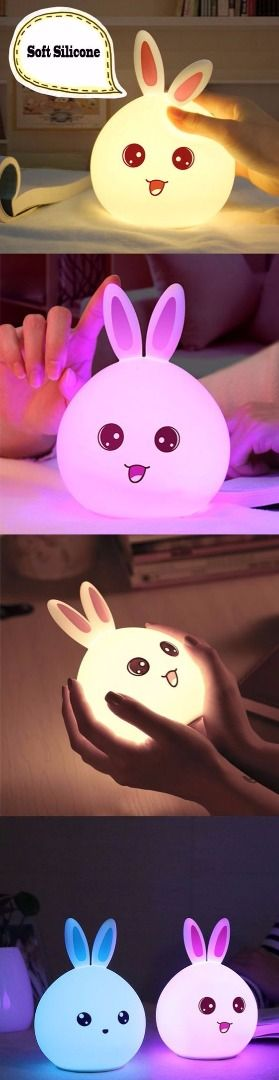 A bunny night lamp to add some cute details to your bedroom.