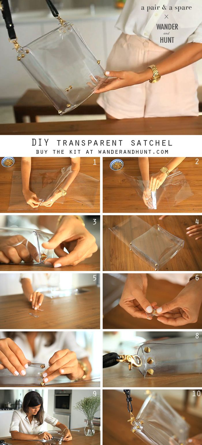 DIY Transparent Satchel | I just have to find out where I can buy thick PVC plastic