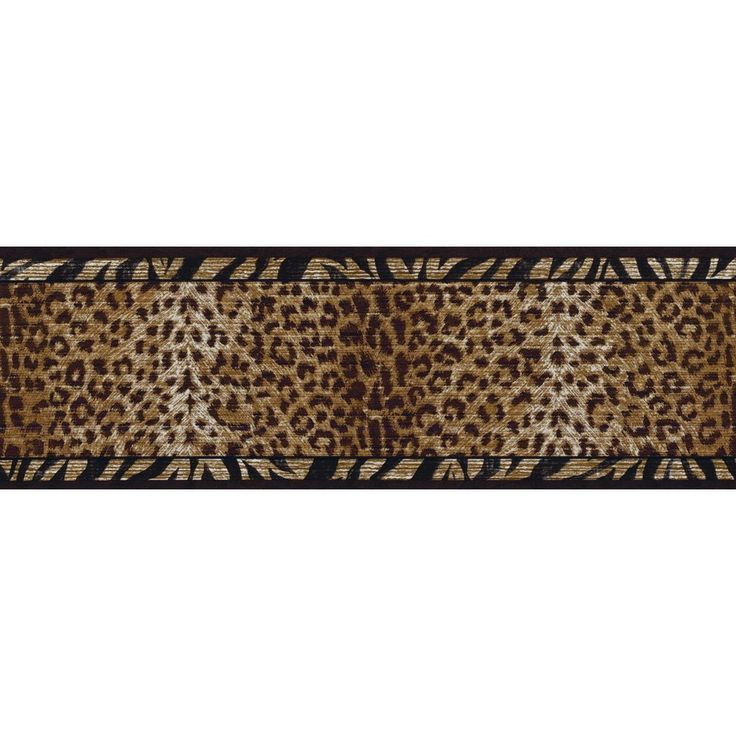 Decorate By Color BC1580212 Black and Gold Animal Print Border - Wallpaper Borders - AmazonSmile