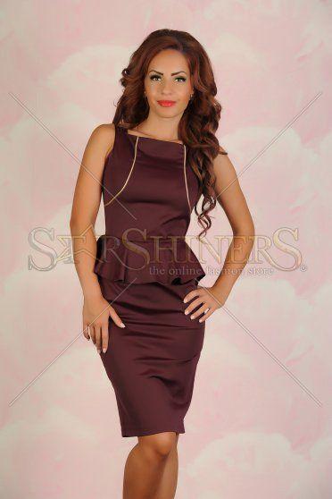 Rochie PrettyGirl Orphic Elegance Burgundy