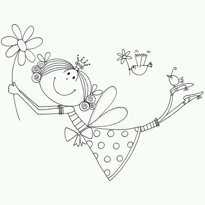 As 40 melhores imagens em dia da espiga no pinterest for Tooth fairy coloring pages
