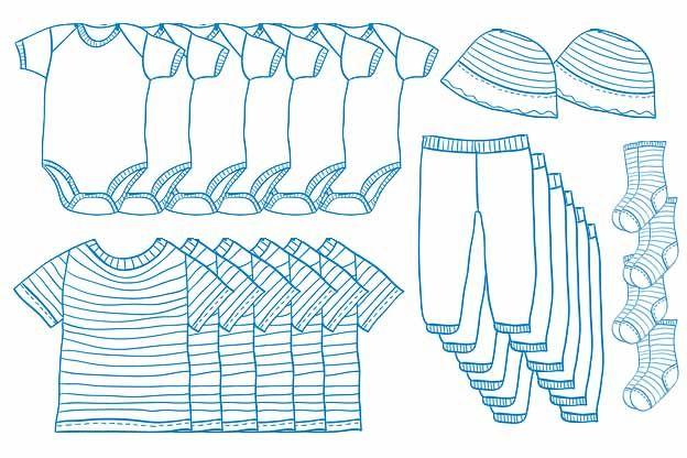 Welke kleding moet je in huis hebben voor een pasgeboren baby? Wij hebben de babykleding die minimaal nodig is op een rij gezet met nog wat handige tips.