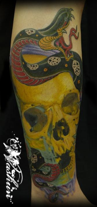 スカル,ポートレート,リアリスティックのタトゥーデザイン|タトゥーナビ