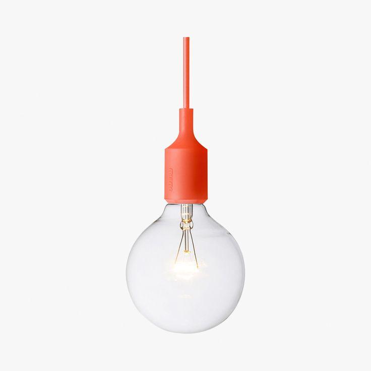 Suspension lampe à douille avec ampoule apparente - Muuto