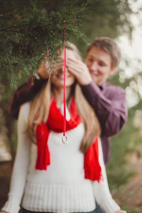 OMG shutUP!  winter wedding proposal