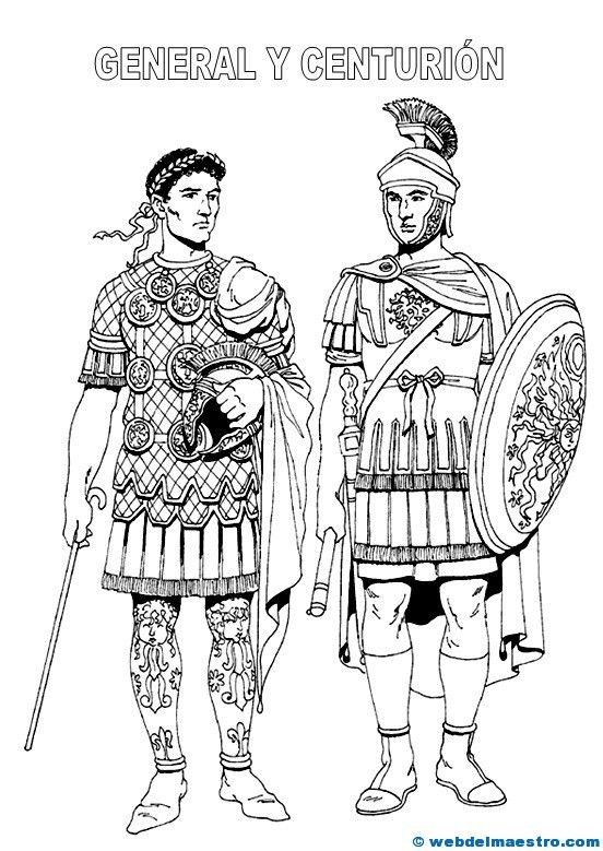 Dibujos de romanos - Recursos educativos y material didáctico para niños/as de Infantil y Primaria. Descarga Dibujos de romanos