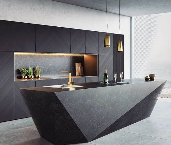 Wouldn't you love to cook in a sleek, sophisticated, and modern kitchen like this one?  Like, share, and comment!