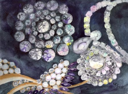 Family Jewels Series # 8 - Watercolour
