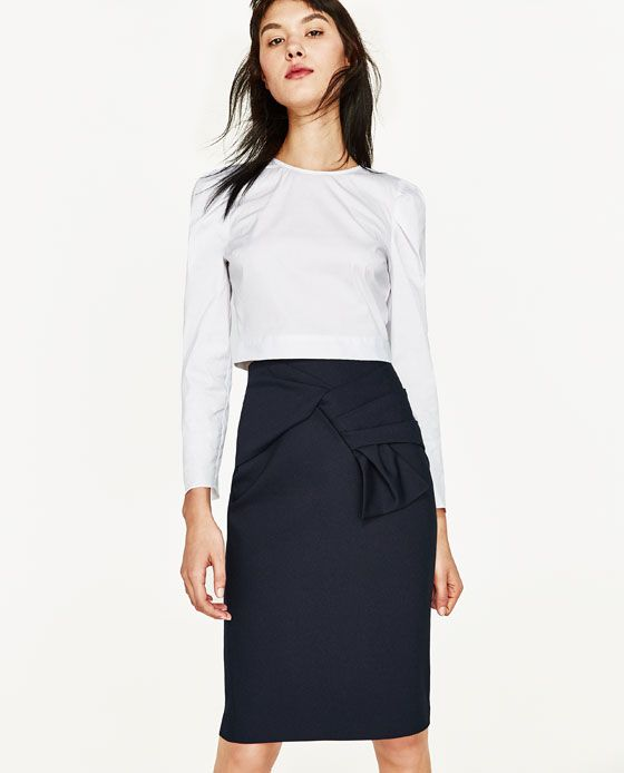 ZARA - WOMAN - PENCIL SKIRT WITH FRONT KNOT