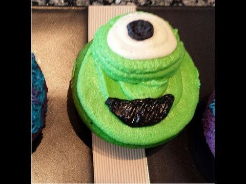 Monsters University Cupcakes: How to Decorate - YouTube