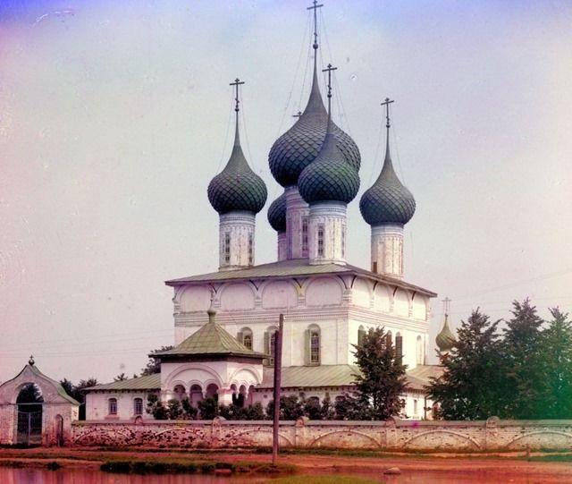 (Summer) Church of the Fedorov Mother of God. Yaroslavl - Russian Empire circa 1909