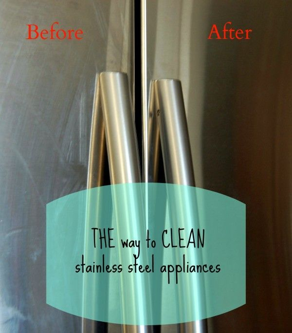 The best way to clean stainless steel appliances - This leaves NO streaks and gets the deep-set stains!